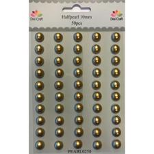 Dixi Craft Halfpearl - 10 mm / Gold (50 stk.)