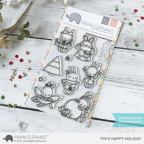 Mama Elephant Clear Stamp Set - Pix\'s Happy Holiday