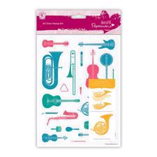 Papermania Clear Stamp Set - Music Instruments