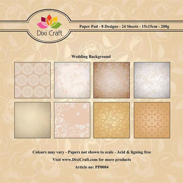 Dixi Craft Blok 15x15 cm - Wedding Background