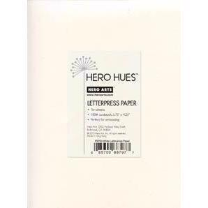 Hero Arts Letterpress Paper - Cream
