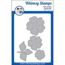 Whimsy Stamps DIE - Peony Flower