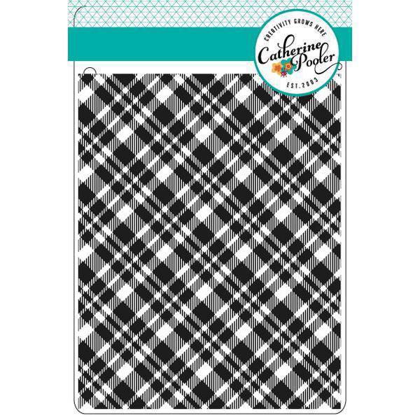 Catherine Pooler Stamps - Plaid Background