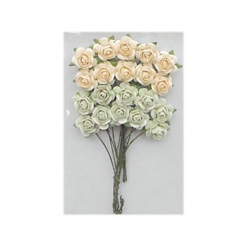 Marianne Paper Roses - Green & Off White