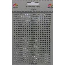 Dixi Craft Rhinestone - 3 mm / Klar (500 stk.)