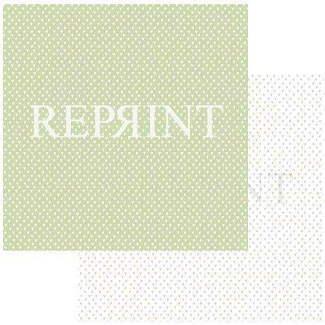 RePrint Scrapbooking Paper - Basic Collection / Hearts Green