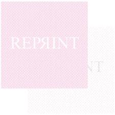 RePrint Scrapbooking Paper - Basic Collection / Hearts Pink