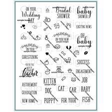 Gina K Design Clear Stamps - Reasons to Celebrate