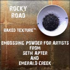 Baked Texture Embossing - Rocky Road