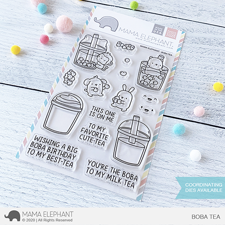 Mama Elephant Clear Stamp Set - Boba Tea