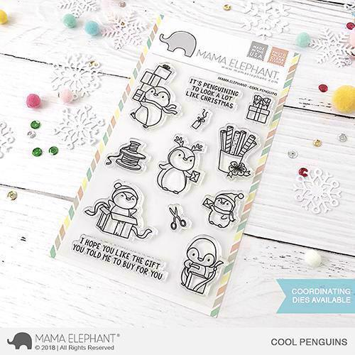 Mama Elephant Clear Stamp Set - Cool Penguins
