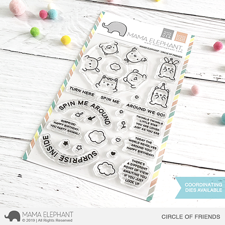 Mama Elephant Clear Stamp Set - Circle of Friends