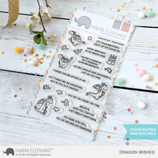 Mama Elephant Clear Stamp Set - Dragon Wishes