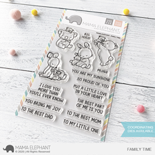 Mama Elephant Clear Stamp Set - Family Time