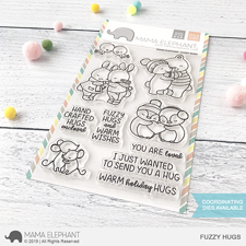 Mama Elephant Clear Stamp Set - Fuzzy Hugs