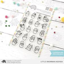 Mama Elephant Clear Stamp Set - Little Snowman Agenda