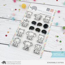 Mama Elephant Clear Stamp Set - Stackable Cuties