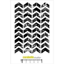 Carabelle Studio Cling Stamp Large - Texture Chevron