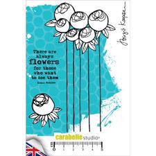 Carabelle Studio Cling Stamp Large - There are Allways Flowers