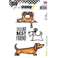 Carabelle Studio Cling Stamp Large - My Dog, My Best Friend