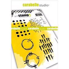 Carabelle Studio Cling Stamp Large - Grungy Patterns
