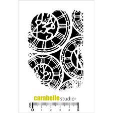 Carabelle Studio Cling Stamp Medium - Texture Horloge