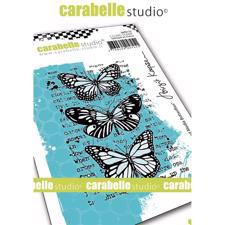 Carabelle Studio Cling Stamp Medium - Mixed Media Butterflies