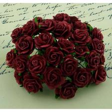 Wild Orchid Crafts - Paper Roses 10mm / Deep Red (100 stk.)