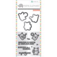 Mama Elephant / Hampton Art Clear Stamp & Die Set - Rock Monster (mini)