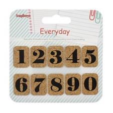 ScrapBerrys CORK Stickers - Everyday 1 / Numbers