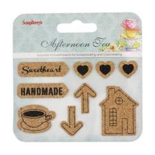 ScrapBerrys CORK Stickers - Afternoon Tea