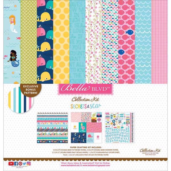 "Bella Blvd Collection Kit 12x12"" - Secrets of the Sea / Girl"