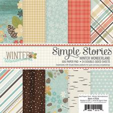 "Simple Stories Paper Pad 6x6"" - Winter Wonderland"