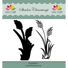 Dixi Craft Clearstamp - Flower 2  (inkl. skygge)