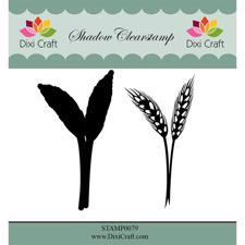 Dixi Craft Clearstamp - Flower 4  (inkl. skygge)