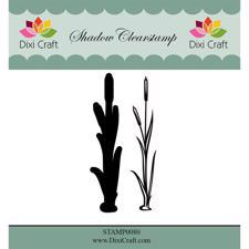 Dixi Craft Clearstamp - Flower 5  (inkl. skygge)