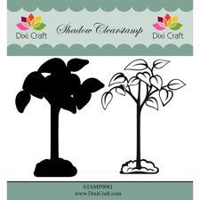 Dixi Craft Clearstamp - Flower 6  (inkl. skygge)