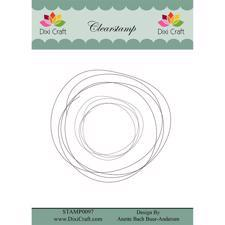 Dixi Craft Clearstamp - Sketch / Circle