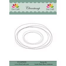 Dixi Craft Clearstamp - Sketch / Oval