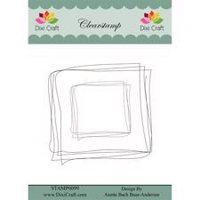 Dixi Craft Clearstamp - Sketch / Square