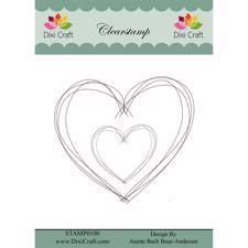 Dixi Craft Clearstamp - Sketch / Heart