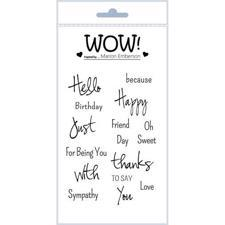 WOW Clear Stamp Set - Just Saying (by Marion Emberson)