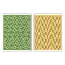 Sizzix Textured Impression Embossing Folders Tim Holtz - Chevron & Lattice
