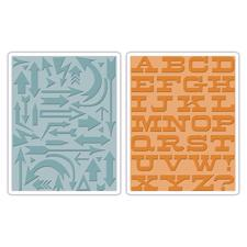 Sizzix Texture Embossing Folders - Tim Holtz / Arrows & Boardwalk