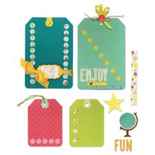 Sizzix Thinlits Die Set - Happy Day (12 dele)