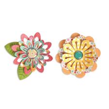Sizzix Thinlits Die Set - Simple Flowers (6 dele)