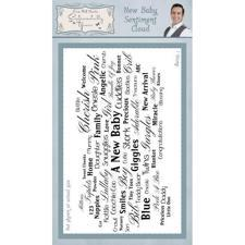 Sentimentally Yours Clear Stamps - Cloud Sentiments / Baby