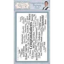 Sentimentally Yours Clear Stamps - Cloud Sentiments / Congratulations