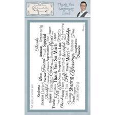 Sentimentally Yours Clear Stamps - Cloud Sentiments / Thank You