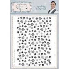 Sentimentally Yours Cling Stempel - Snowflake Background